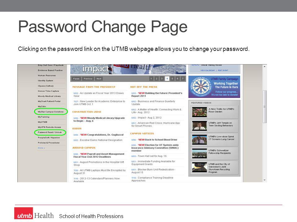 School of Health Professions Blackboard – Blackboard email verification