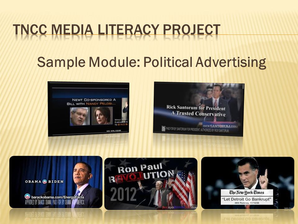 Sample Module: Political Advertising