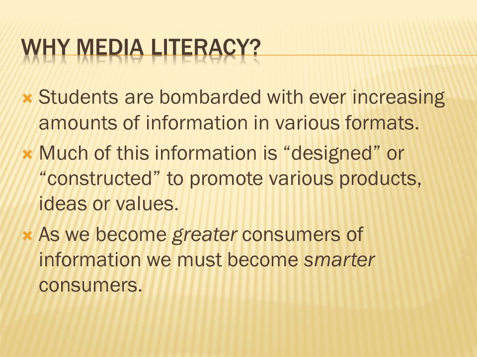  Media literacy has been defined as a framework to guide the access, analysis, evaluation and creation of messages in a variety of forms, including print, video, images, and web-based media.  Media literacy entails articulating the role of media in society and developing the inquiry and communication skills necessary for functioning effectively as citizens of a democracy (Center for Media Literacyhttp://www.medialit.org/).