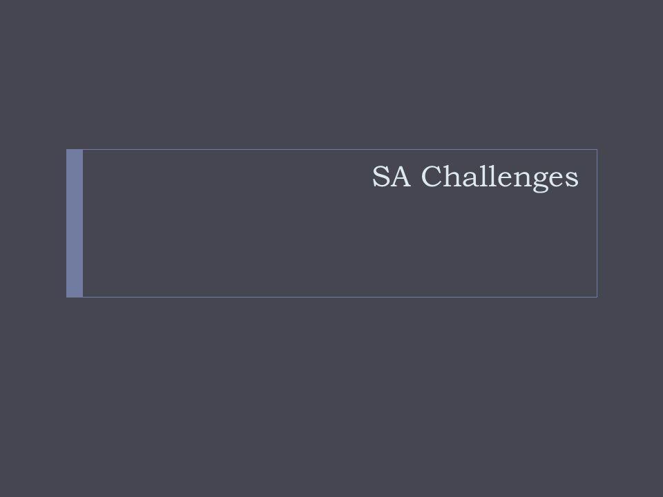 SA Challenges