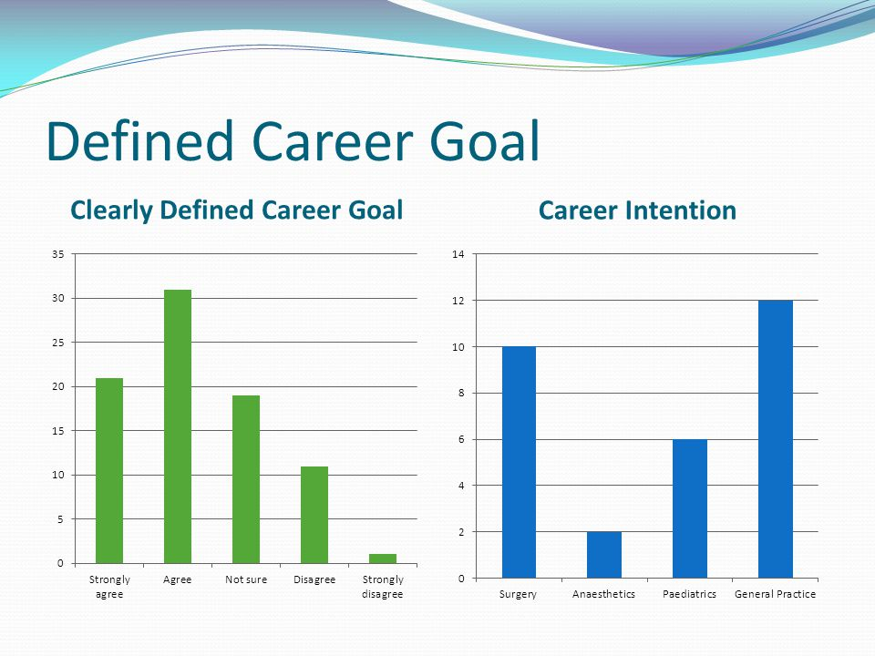 Defined Career Goal Clearly Defined Career Goal Career Intention