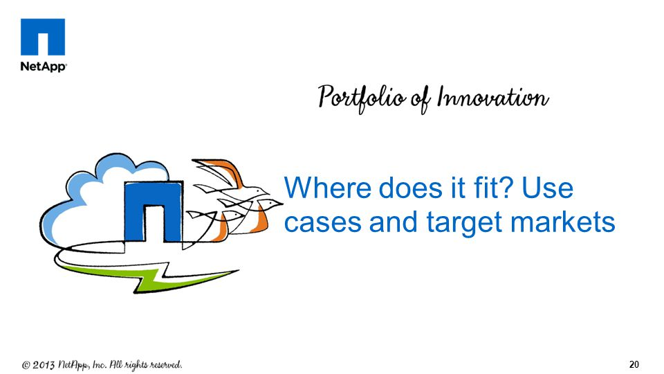 20 Where does it fit? Use cases and target markets