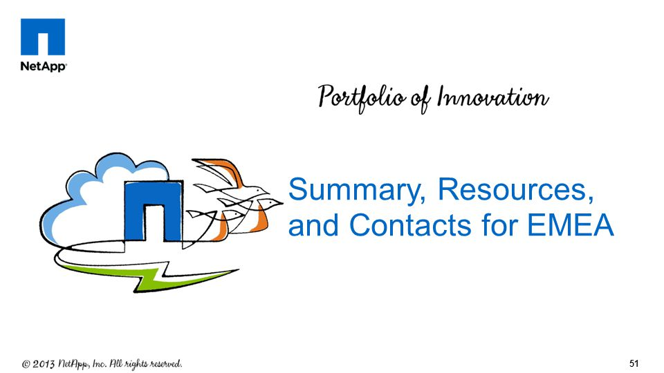 51 Summary, Resources, and Contacts for EMEA