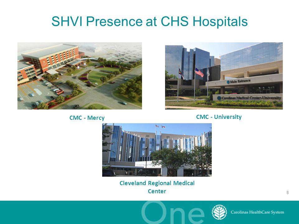 SHVI Presence at CHS Hospitals 8 CMC - Mercy CMC - University Cleveland Regional Medical Center
