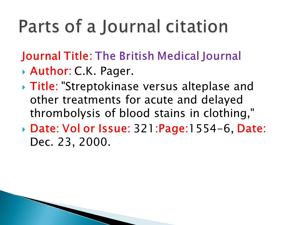 Journal Title: The British Medical Journal  Author: C.K.