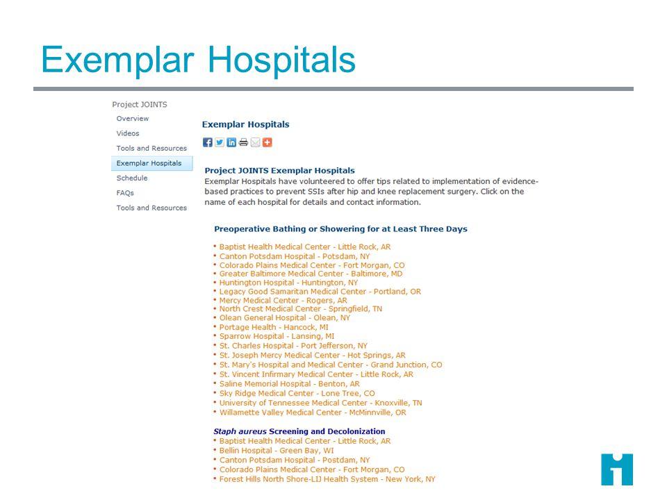 Exemplar Hospitals