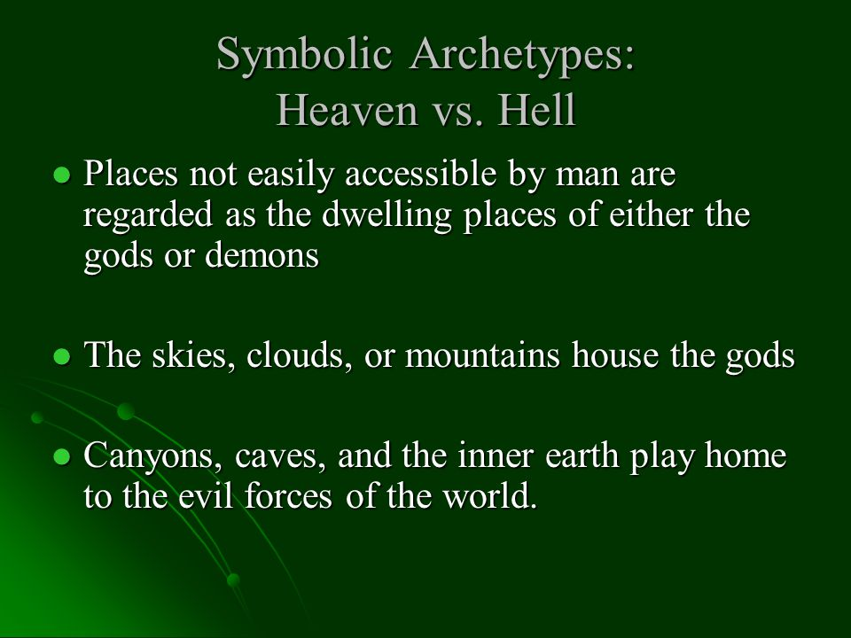 Symbolic Archetypes Let's Review.