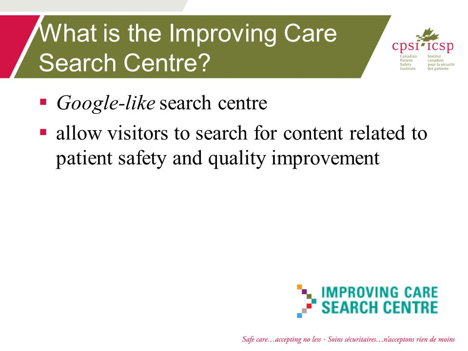 What is the Improving Care Search Centre.