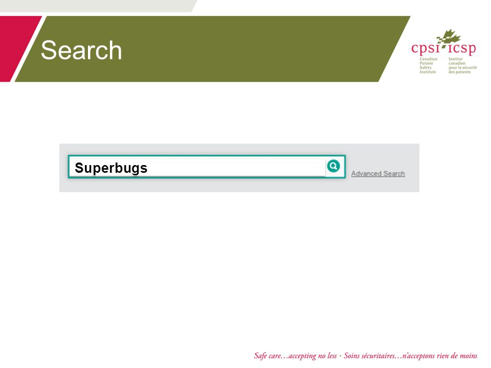 Search Superbugs Superbugs