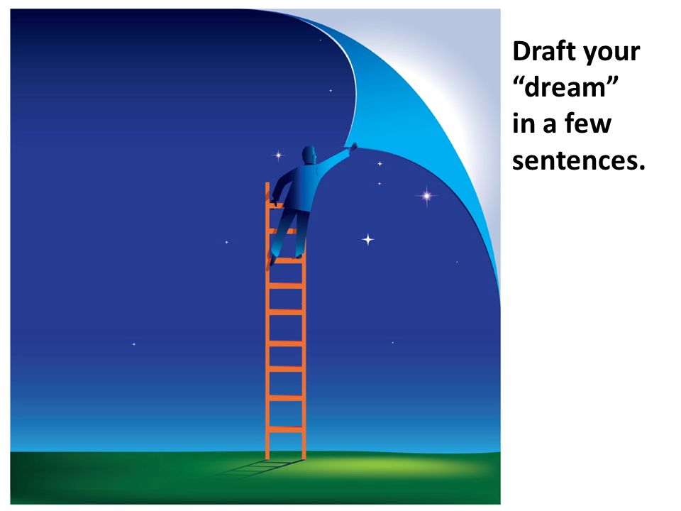 Draft your dream in a few sentences.