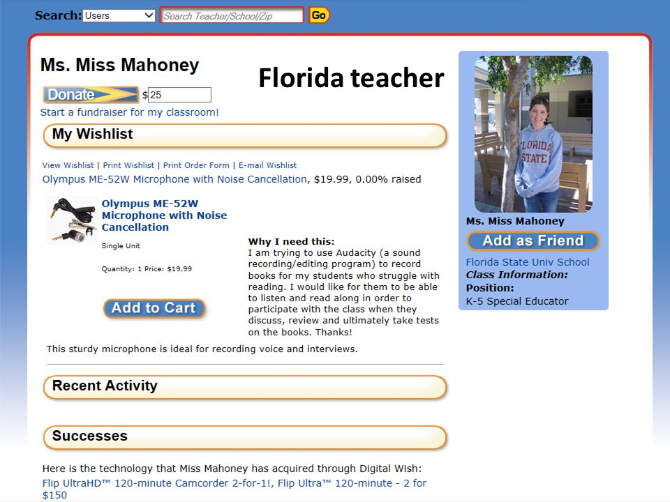 Florida teacher