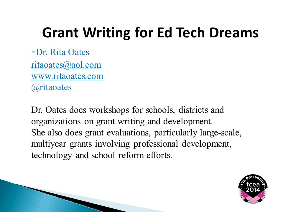 Grant Writing for Ed Tech Dreams - Dr.