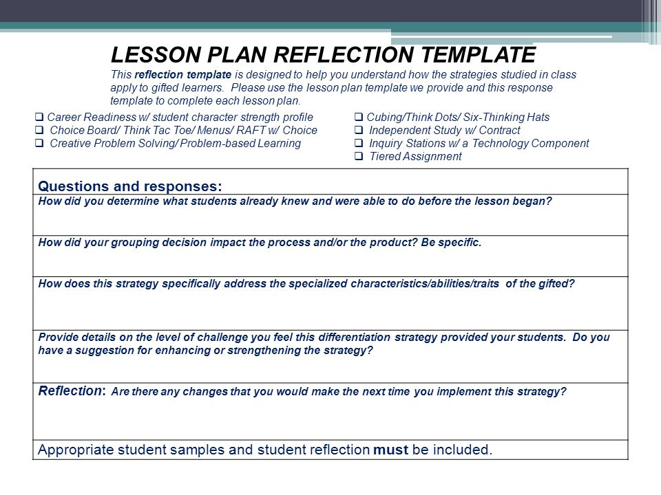 Questions and responses: How did you determine what students already knew and were able to do before the lesson began.