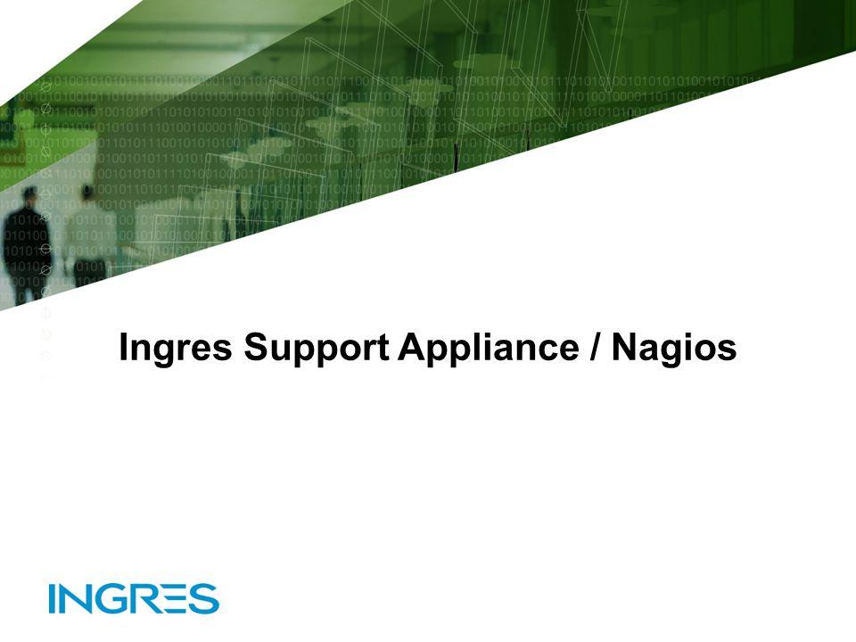 © 2010 Ingres CorporationSlide 11 Ingres Support Appliance / Nagios