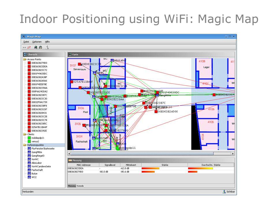 Indoor Positioning using WiFi: Magic Map 35