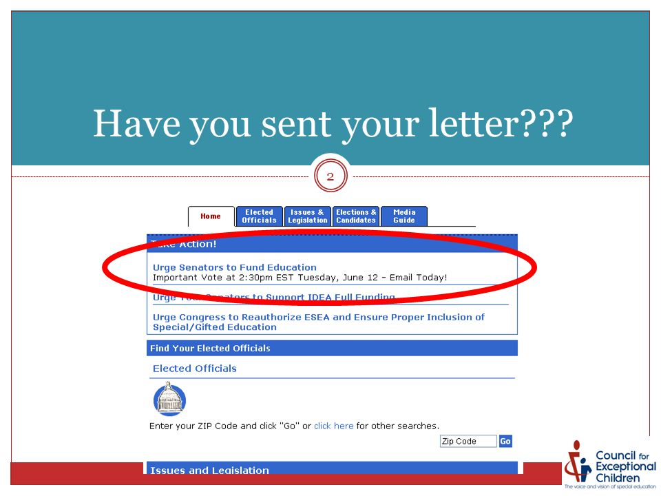 Have you sent your letter??? 2