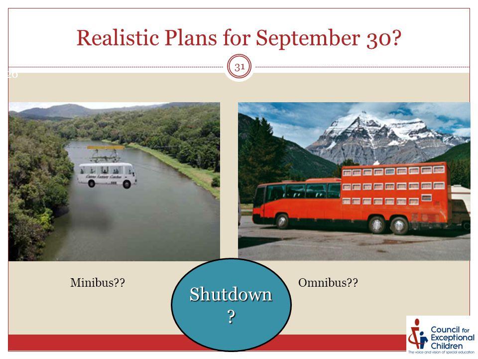 Minibus Omnibus Shutdown Realistic Plans for September 30 26 31