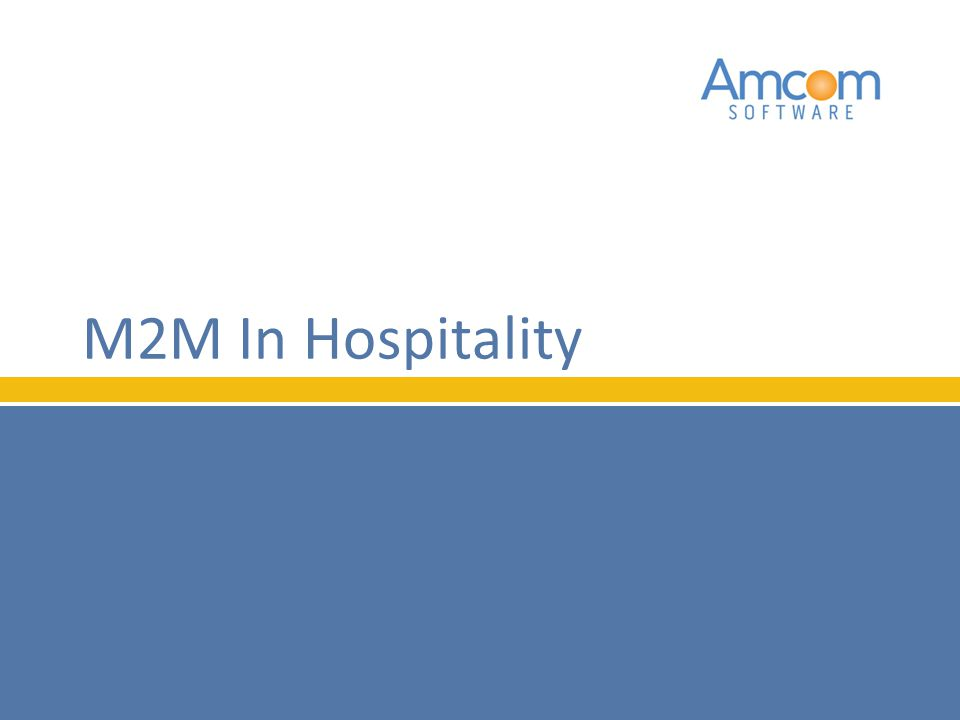 M2M In Hospitality