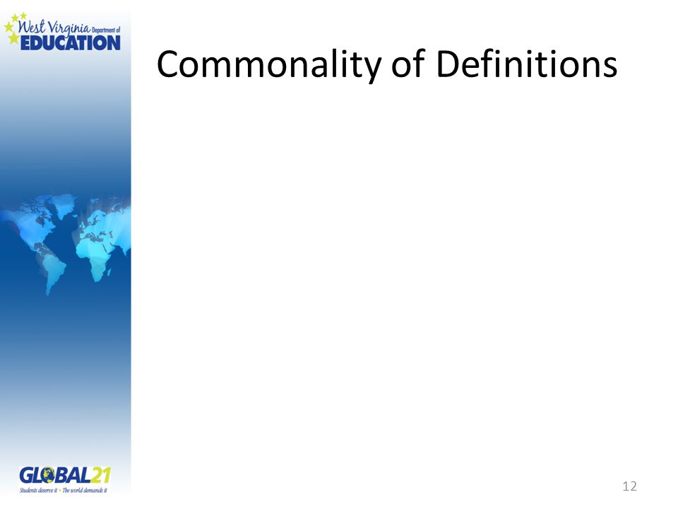 Commonality of Definitions 12