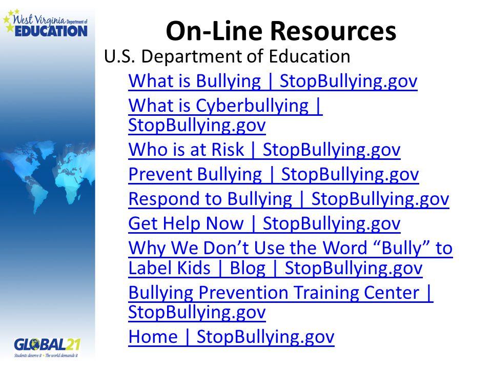 On-Line Resources U.S.