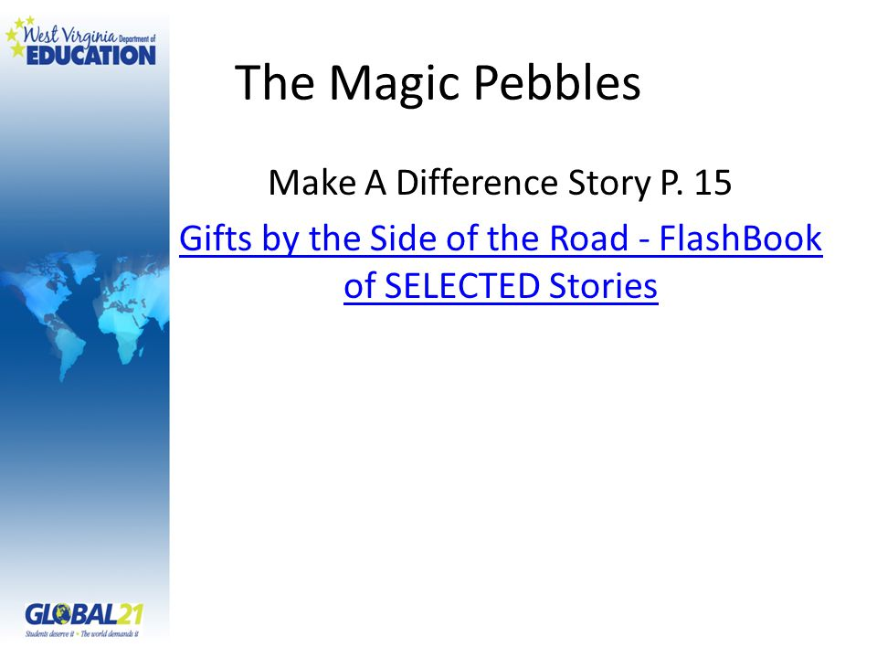 The Magic Pebbles Make A Difference Story P.