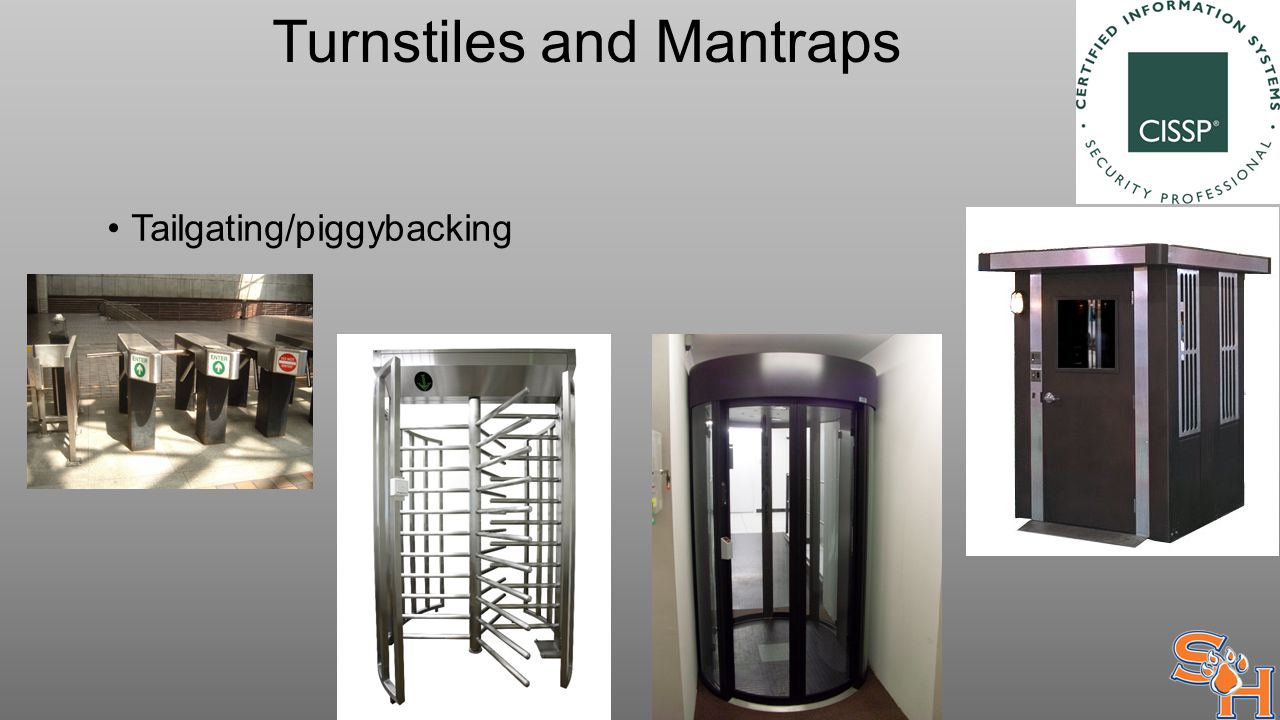 Turnstiles and Mantraps Tailgating/piggybacking