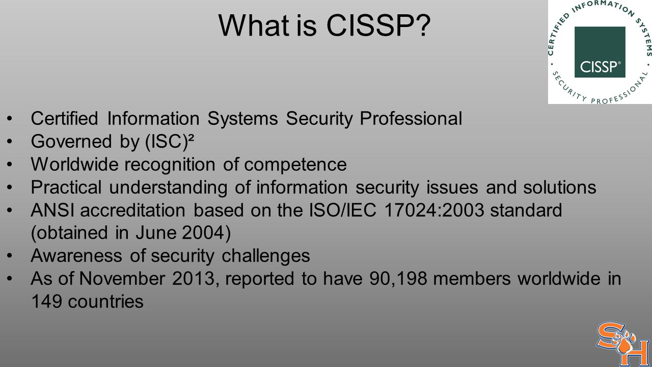What is CISSP.
