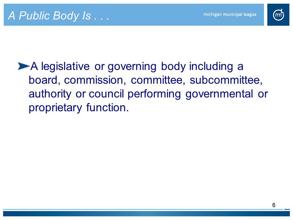6 A Public Body Is...