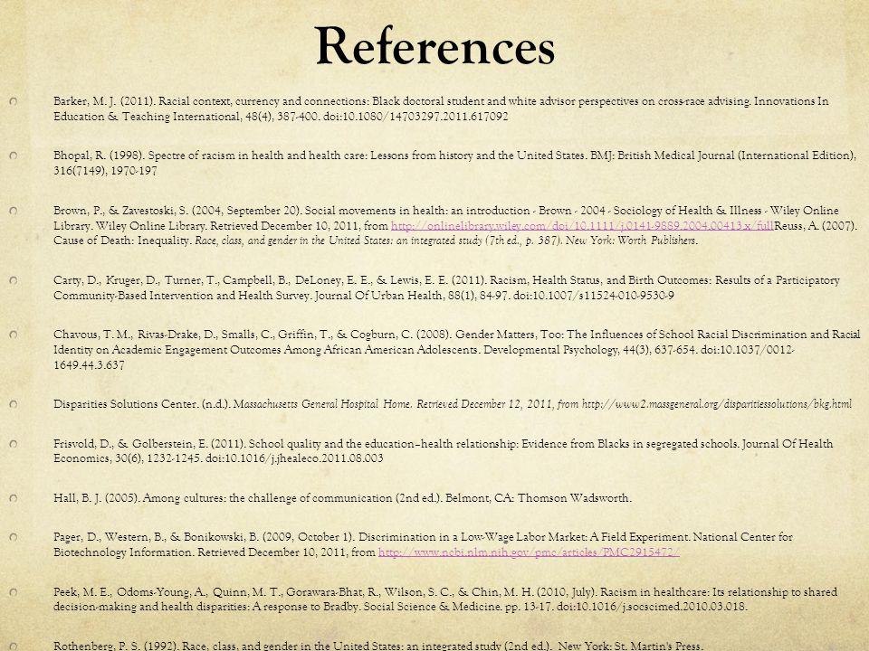References Barker, M. J. (2011).