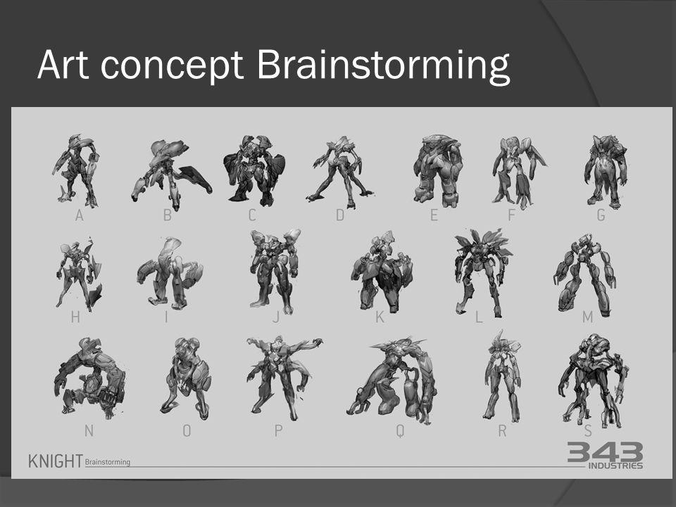 Art concept Brainstorming