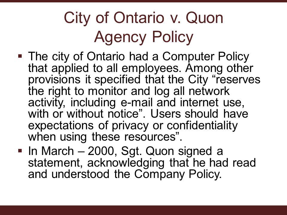 City of Ontario v.