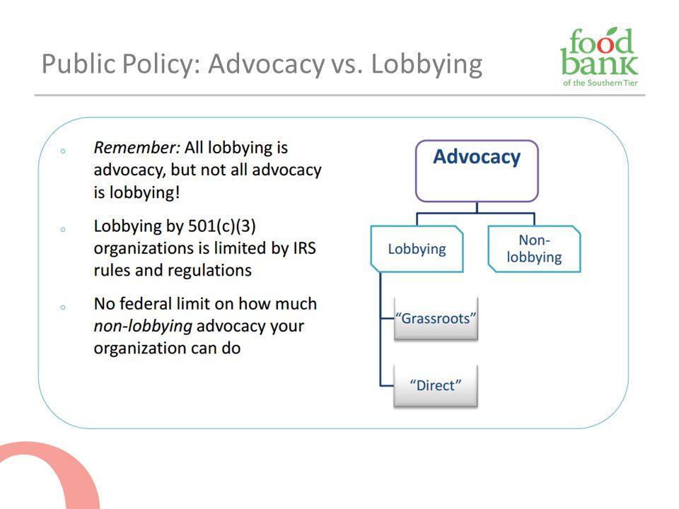 Public Policy: Advocacy vs. Lobbying