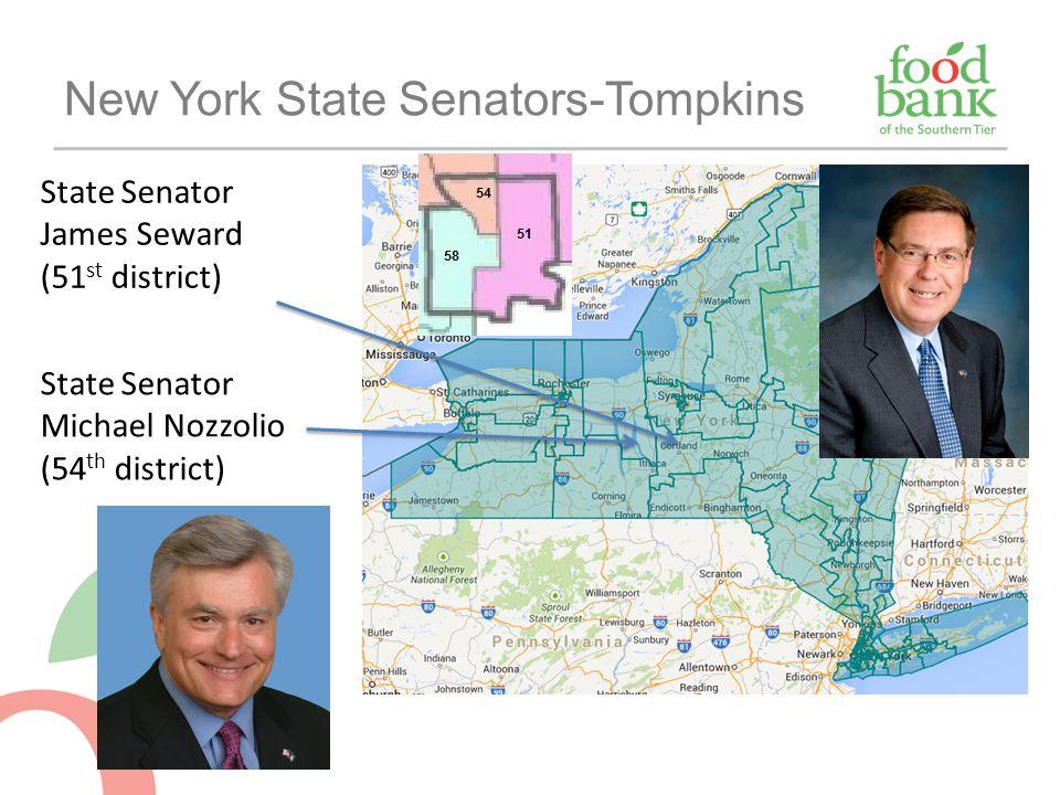 New York State Senators-Tompkins State Senator James Seward (51 st district) State Senator Michael Nozzolio (54 th district)