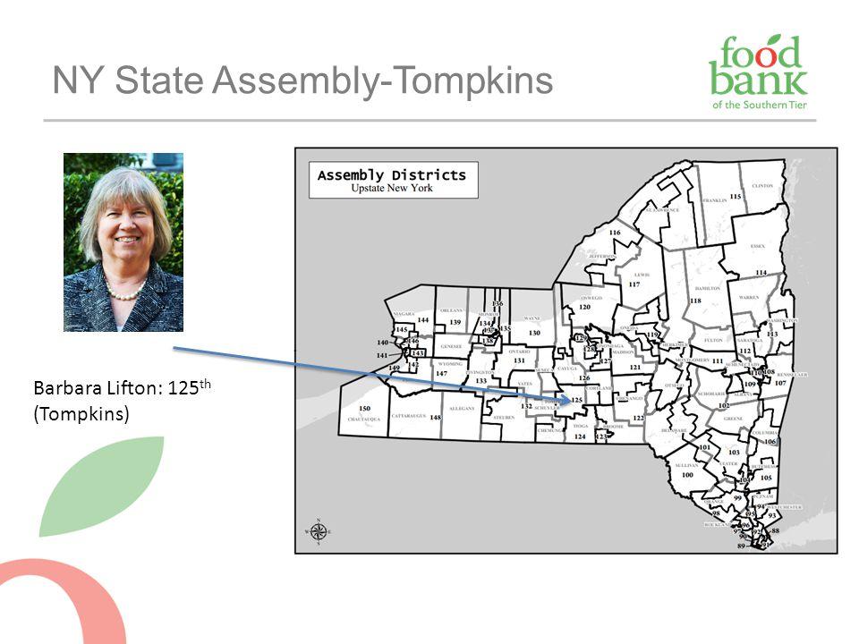 NY State Assembly-Tompkins Barbara Lifton: 125 th (Tompkins)
