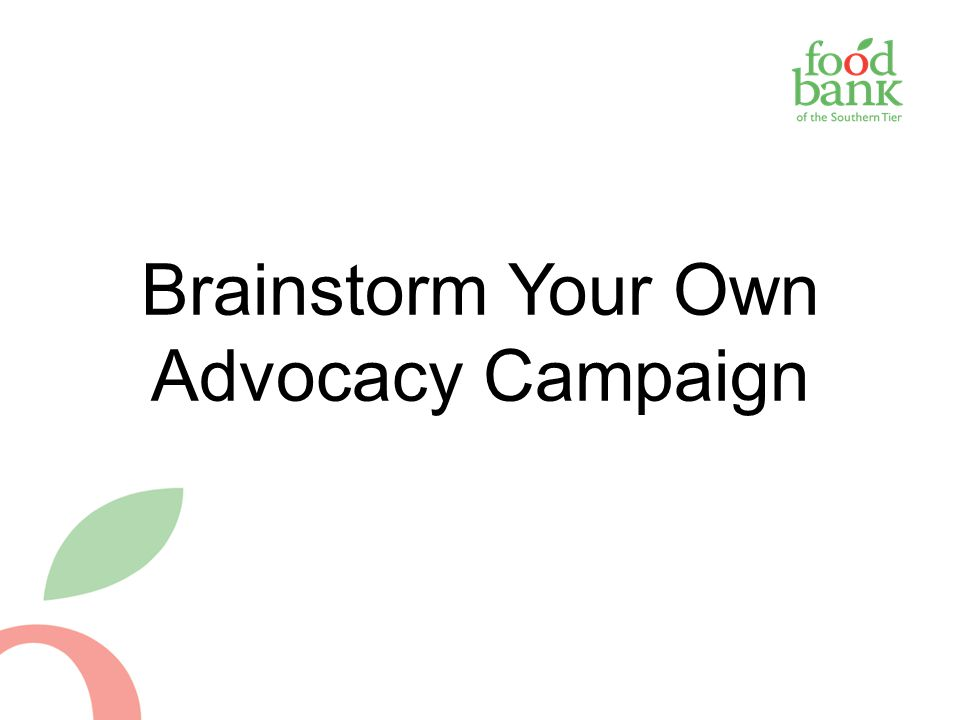 Brainstorm Your Own Advocacy Campaign