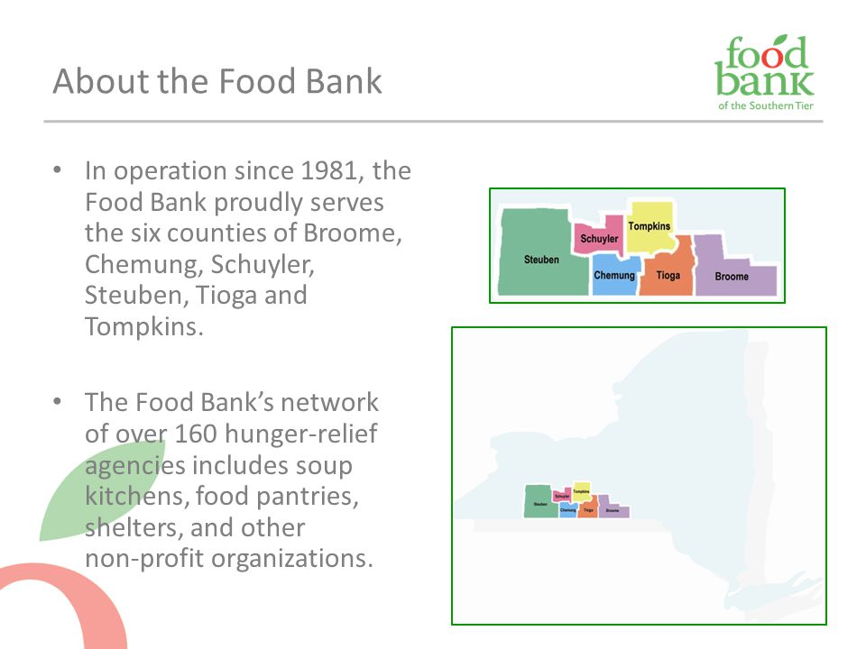 Food Bank fact sheets http://www.foodbankst.org/index.asp?pageId=127http://www.foodbankst.org/index.asp?pageId=127 NYSCAA poverty profiles http://nyscommunityaction.org/poverty-in-new-york/povertydata/ Map the Meal Gap (Feeding America) http://feedingamerica.org/hunger-in-america/hunger-studies/map-the- meal-gap.aspx Cornell County Profiles http://pad.human.cornell.edu/profiles/ (US Census info)http://pad.human.cornell.edu/profiles/ American Community Survey (US Census) http://www.census.gov/acs/www/ http://www.census.gov/acs/www/ New York Times Mapping Poverty in America http://www.nytimes.com/newsgraphics/2014/01/05/poverty-map/ http://www.nytimes.com/newsgraphics/2014/01/05/poverty-map/ Slate's Food Stamp Usage tracker http://www.slate.com/articles/news_and_politics/map_of_the_week/2013/04/food_s tamp_recipients_by_county_an_interactive_tool_showing_local_snap_data.html http://www.slate.com/articles/news_and_politics/map_of_the_week/2013/04/food_s tamp_recipients_by_county_an_interactive_tool_showing_local_snap_data.html Need stats?
