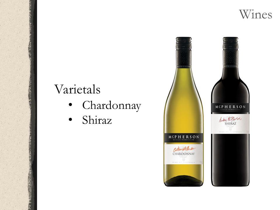 Wines Varietals Chardonnay Shiraz