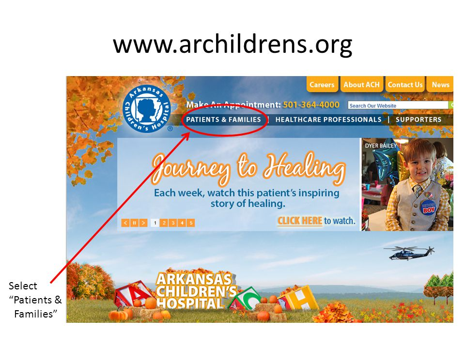 www.archildrens.org Select Patients & Families