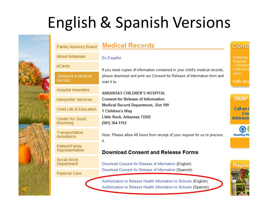 English & Spanish Versions