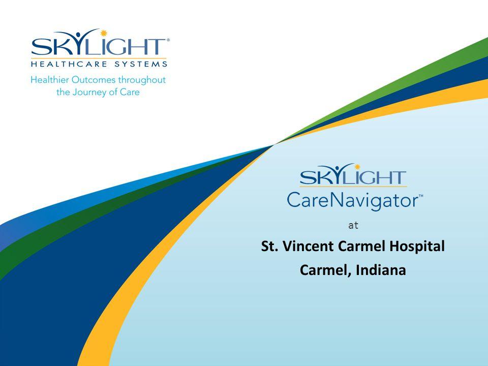 at St. Vincent Carmel Hospital Carmel, Indiana