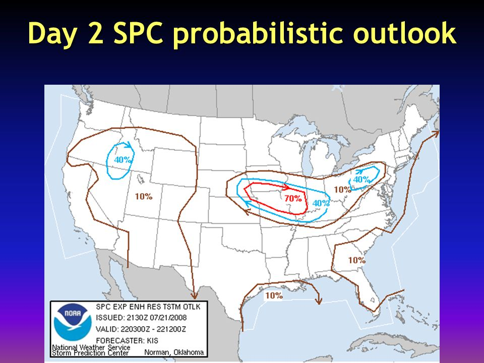 Day 2 SPC probabilistic outlook