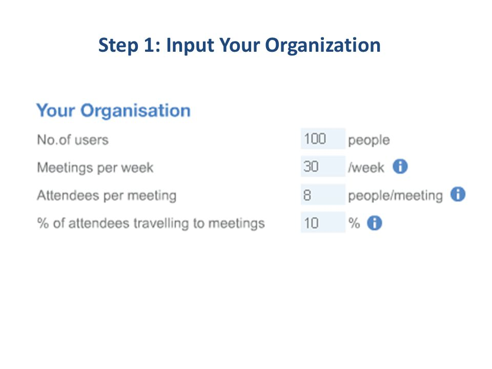 Step 1: Input Your Organization