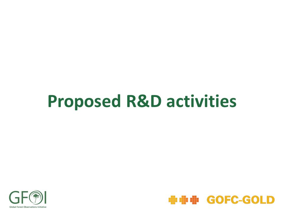 Proposed R&D activities