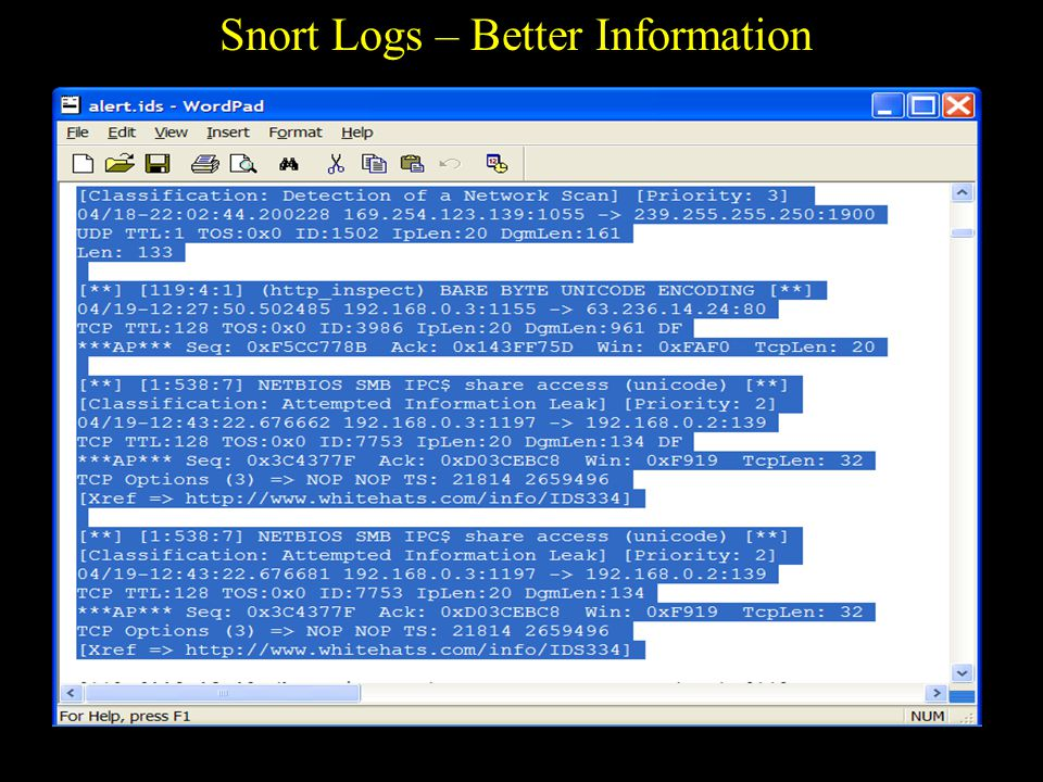 Snort Logs – Better Information