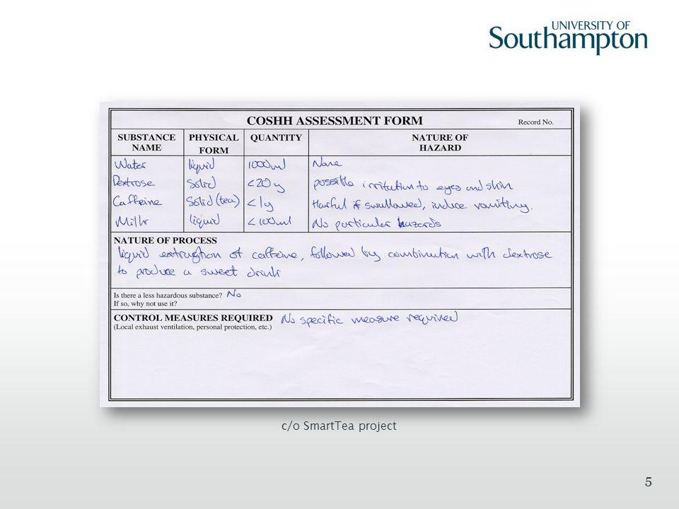 COSHH Risk Assessment Methodology 0.Plan scientific experiment.