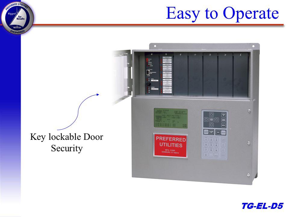 TG-EL-D5 Easy to Operate Key lockable Door Security