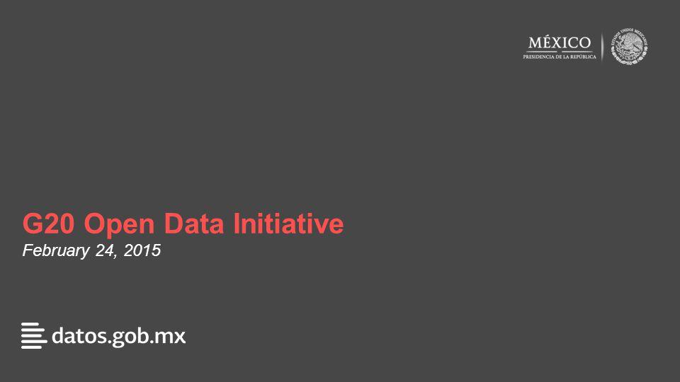 G20 Open Data Initiative February 24, 2015