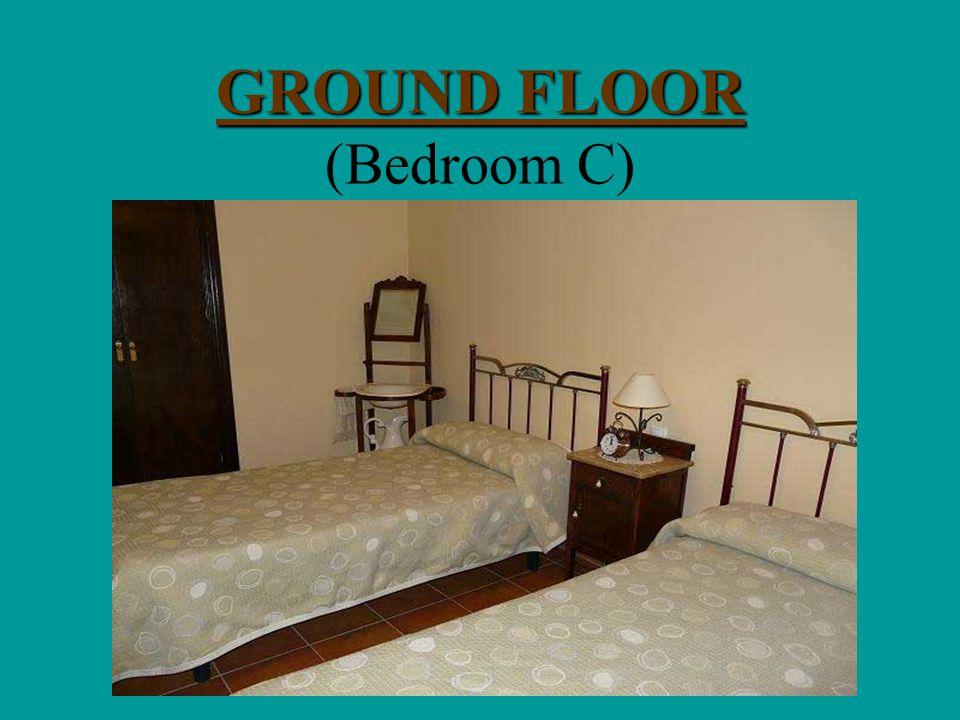GROUND FLOOR GROUND FLOOR (Bedroom B)