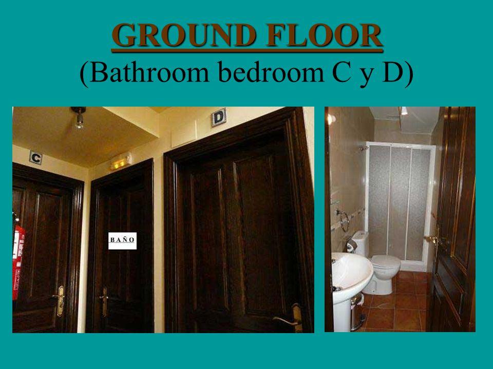 GROUND FLOOR GROUND FLOOR (Bathroom bedroom C y D)