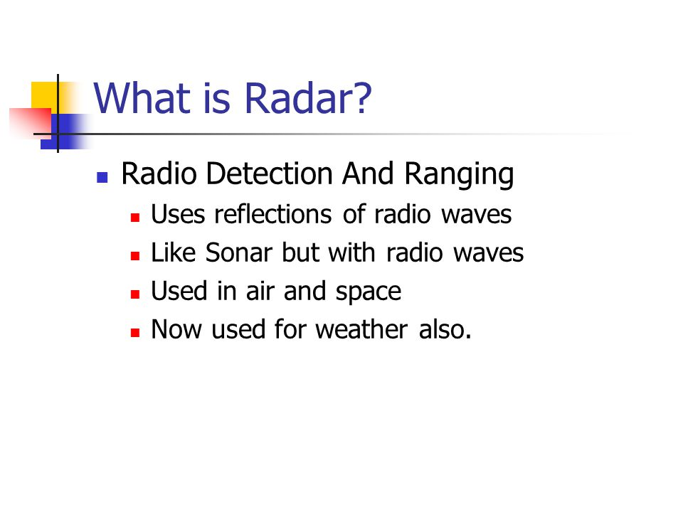 What is Radar.